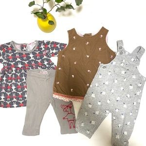 Baby Girl Boho Outfit Bundle, 3 months